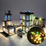Оригинал              Светодиодное освещение Набор ТОЛЬКО для LEGO 60141 City Series полицейский участок игрушки кирпича