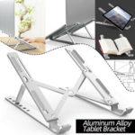 Оригинал              Алюминиевый сплав Планшетный кронштейн Складной портативный ноутбук Stand Holder Держатель для стойки