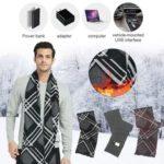 Оригинал              Кашемир USB Электрический шарф Аккумуляторная Шарф с подогревом Моющийся шарф Теплый Шея Защитная одежда