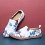 Оригинал              Женская цветная роспись чернилами Шаблон Soft Туфли на плоской подошве