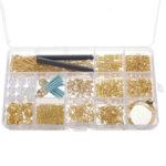 Оригинал              480Pcs Изготовление ювелирных изделий Набор DIY Фурнитура для сережек Крючки Бусы Смешанные аксессуары ручной работы