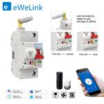 Оригинал              eWelink 1P 16A WiFi Smart Switch Автоматический выключатель Автоматическая защита от перегрузок Перегрузка Защита от короткого замыкания для Amazon Alexa Гл