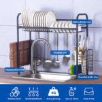 Оригинал              Полка для посуды из нержавеющей стали Стальная мойка Стеллаж для сушки посуды Столовые приборы Стеллаж для сушки посуды