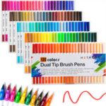 Оригинал              120 цветов Двуглавый маркер Ручка Art Щетка Акварельный двойной наконечник Ручкаs