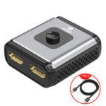 Оригинал              BIAZE HQ8 hdmi Splitter Switcher 1 вход 2 выход / 2 входа 1 выход Двухсторонний переключатель 4K HD 3D видео разветвитель для портативного компьютера Set-top Короб