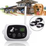 Оригинал              500 метров Pet Electric Водонепроницаемы Аккумуляторная беспроводная Дистанционное Управление Тренировочная система для 3 залов для собак Pet Pet Tr