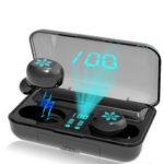 Оригинал              Мини Портативный TWS Наушники Беспроводная связь Bluetooth 5.0 Наушник LED Дисплей IPX7 Водонепроницаемы Наушники с микрофоном