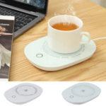 Оригинал              USB Cup Mug Warmer Coffee Чай Молочный напиток Нагреватель Pad 16W 55 ℃ Термостатический коврик для чашки