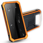 Оригинал              Водонепроницаемый 8000mAh Портативное зарядное устройство Солнечная Dual USB Батарея Power Bank