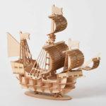 Оригинал              DIY 3D Деревянный Ручной Работы Собрать Трехмерный Морской Парусный Корабль Модель Строительство Игрушки
