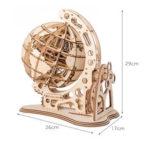 Оригинал              Деревянный маятник глобус модель украшения собирать игрушки