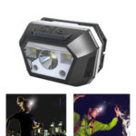 Оригинал              BIKIGHT 605B 100W Индукционные блики налобных фонарей аккумуляторная ночь Рыбалка Сияющие блики LED Телескопический зум дальний свет фар