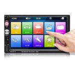 Оригинал              7023B 7 дюймов 2Din Wince Авто Stereo Радио Автоматический MP5-плеер HD Bluetooth-гарнитура с громкой связью с сенсорным экраном FM AUX USB Поддержка реверсивног