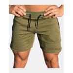 Оригинал              Мужская мода Drawstring Тонкий Fit сплошной цвет повседневные шорты