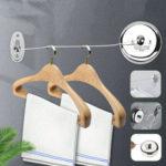 Оригинал              Нержавеющая сталь Выдвижная настенная веревка для белья Home Hotel Ткань Вешалка