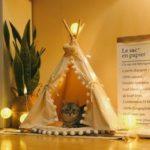 Оригинал              Собака Кот Pet Teepee White Tent Портативный Моющийся Sweet House Kids Play Tents S / L