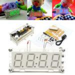 Оригинал              4-значный LED цифровой электронный микроконтроллер DIY Набор Часы время Термометр
