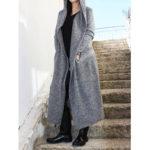 Оригинал              Плюс Размер Женское Зимние теплые куртки с капюшоном повседневные длинные пальто