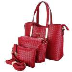 Оригинал              3PCS / SET Женское Кожаная сумка-портфель через плечо Messenger Crossbody Сумка