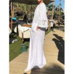 Оригинал              Кружева Лоскутная V-образным вырезом с длинным рукавом Holiday Maxi Платье