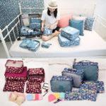 Оригинал              6шт Водонепроницаемы сумка для путешествий Багаж сумка для хранения одежды Сумка Чехол упаковка Органайзер