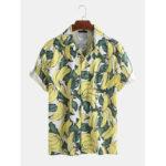 Оригинал              Мужские летние повседневные свободные рубашки с банановым принтом