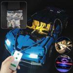 Оригинал              DIY Светодиодный Освещение Набор Для LEGO 42083 Bugatti Chiron Technic Набор с Дистанционный