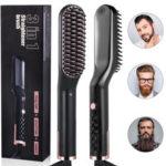 Оригинал              3 в 1 для мужчин и Женское борода Волосы выпрямляющий гребень электрический Керамический ионный быстрый нагрев Щетка переносной походный г