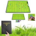 Оригинал              44×32см Складная Магнитная Тренировочная Доска Тактический Футбол Обучение Футболу Набор