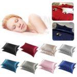 Оригинал              2шт шелковистая Soft подушка Чехол кровать наволочка наволочка роскошный номер домашний подарок