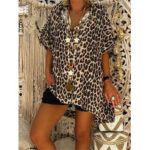 Оригинал              Повседневная блуза с леопардовым принтом и нерегулярным низом