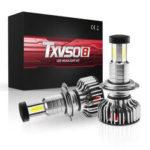 Оригинал              TXVSO8 X3 LED Авто Фары Лампы H7 H8 H9 H11 9012 9006 9005 Противотуманные фары 120W 30000LM 6000K Белый Водонепроницаемы 360 градусов Освещение 12 В 24 В
