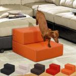 Оригинал              Портативный Собака Кот 2 ступени Pet лестница скат лестница кожаный чехол раскладной диван кровать Pet