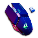 Оригинал              Free Wolf X11 Wireless Gaming Мышь 2400 точек на дюйм Аккумуляторная 7 цветов Дышащая Подсветка Gamer Мыши для Компьютера Портативных ПК