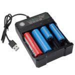 Оригинал              Bakeey LED Индикатор 18650 Батарея Зарядное устройство 4-слотовое Li-ion Батарея Зарядное устройство Усилитель Зарядное устройство USB Аккумуляторна