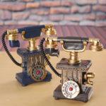 Оригинал              Старинные Ротари Телефон Статуя Античный Потертый Старый Телефон Фигурка Украшения Дома