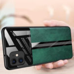 Оригинал              Bakeey Luxury Business PU Кожаное Зеркальное Стекло Противоударный Защитный Чехол для iPhone 11 6.1 дюймов