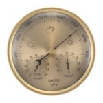 Оригинал              3 в 1 золотой стене висит погода Термометр барометр манометр гигрометр