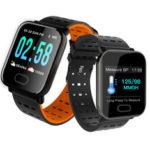 Оригинал              Bakeey A6 Sleep HR Артериальное давление Кислород Монитор камера Управление Smart Watch