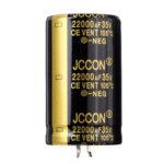Оригинал              22000UF 35V 30x50mm Радиальный алюминиевый электролитический конденсатор Высокочастотный 105 ° C