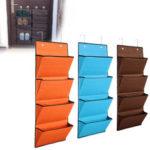 Оригинал              4 кармана полиэстер дверь подвесной держатель организатор стеллаж Сумка шкаф Органайзер