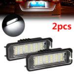 Оригинал              2PCS 18 LED Номер лицензии Пластина Авто Фары для VW Golf MK4 MK5 MK6 Passat Lupo Polo 9N