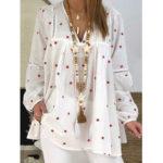 Оригинал              Женская свободная мешковатая Рубашка блуза с длинным рукавом и принтом звезд