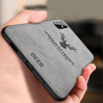 Оригинал              BAKEEY Deer Classic Ткань Холст Противоударный Защитный Чехол для Samsung Galaxy A51 2019