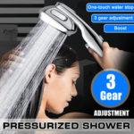 Оригинал              3 режима высокого давления ручной экономии воды душевая лейка спрей Ванная комната насадка для душа