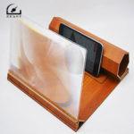 Оригинал              Стереоскопическое усиление 12 дюймов Настольный деревянный кронштейн Мобильный телефон Видеоэкранная лупа Усилитель Крепление для телеф