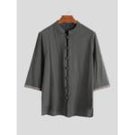 Оригинал              Мужские китайские рубашки из 100% хлопка