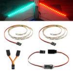 Оригинал              DIY RC LED Полосы Набор Зеленый Красный Flash Night Light с Дистанционный Модуль контроллера 5V для RC Самолета с фиксированным крылом