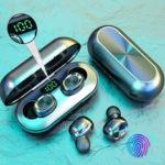 Оригинал              Bakeey B5 беспроводная связь Bluetooth 5,0 TWS Наушники цифровые Дисплей Наушник Водонепроницаемы Стерео Спорт Музыка Наушники