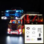 Оригинал              Светодиодное освещение Набор ТОЛЬКО ДЛЯ LEGO 42098 Мотор Кирпичи для строительства автомобилей Игрушки